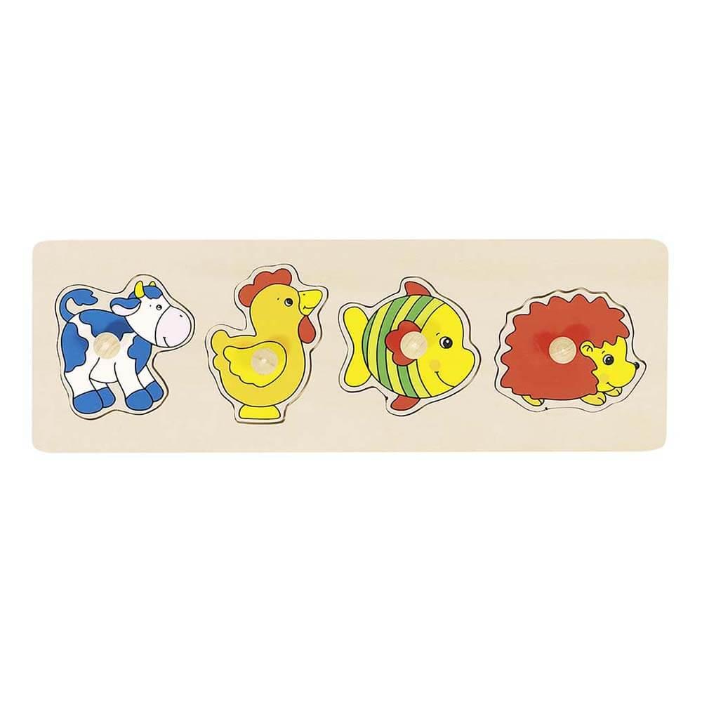 Бебешки Пъзел с Дръжки GOKI  - Животинчета