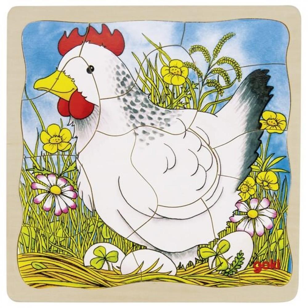 GOKI Многослоен Пъзел – Пиле