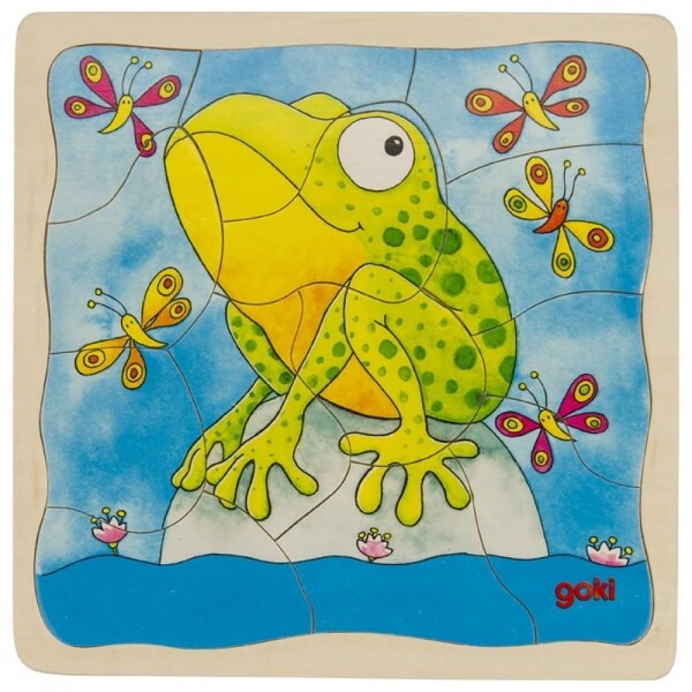 GOKI Многослоен Пъзел – Жаба
