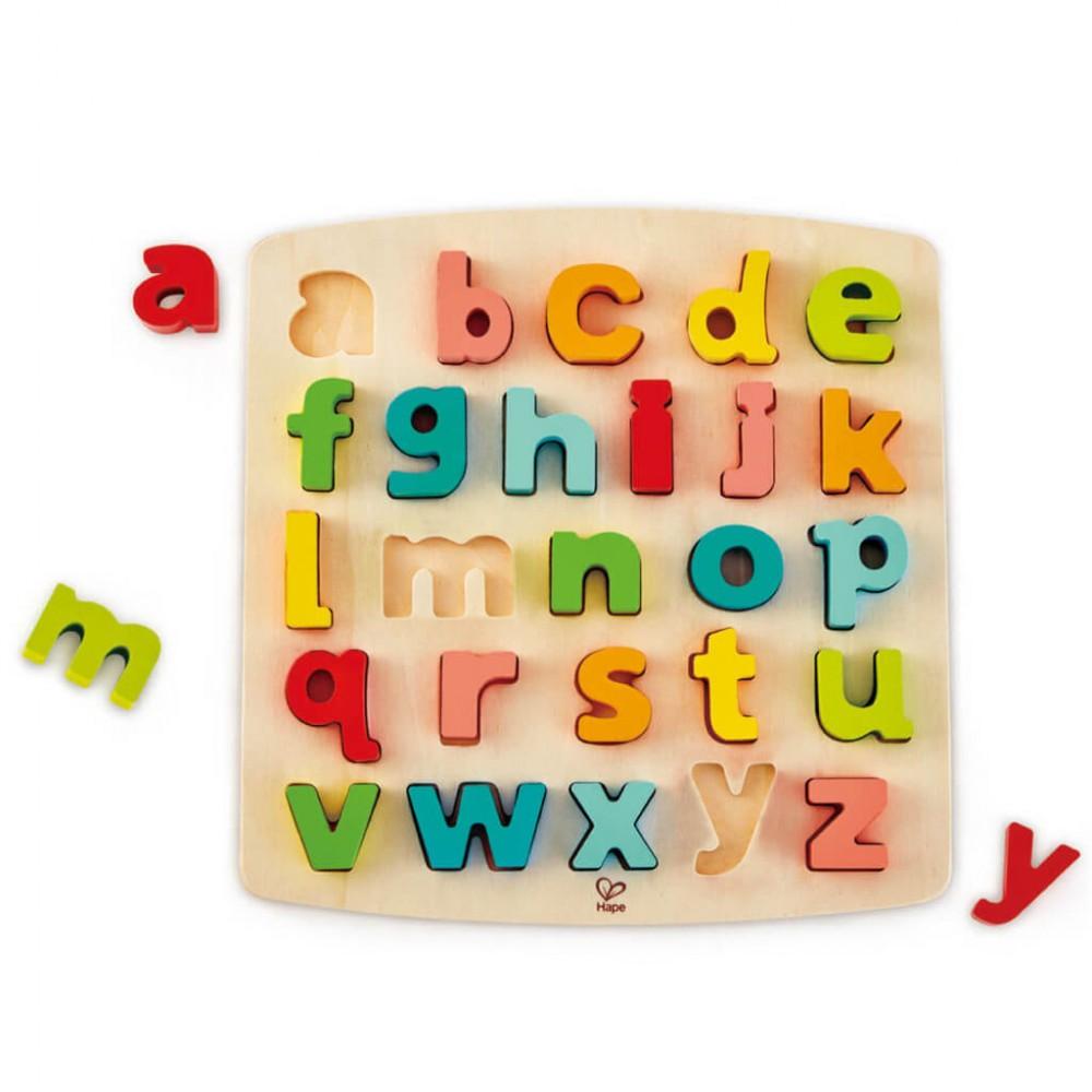 Образователен Дървен Пъзел - Английска Азбука Малки Букви