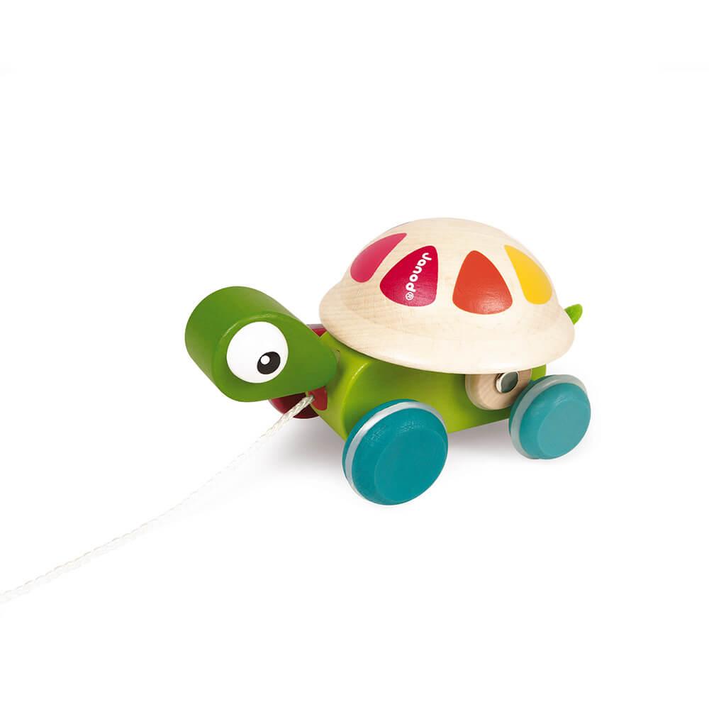 Костенурка Зиголос JANOD – Бебешка Играчка за Дърпане