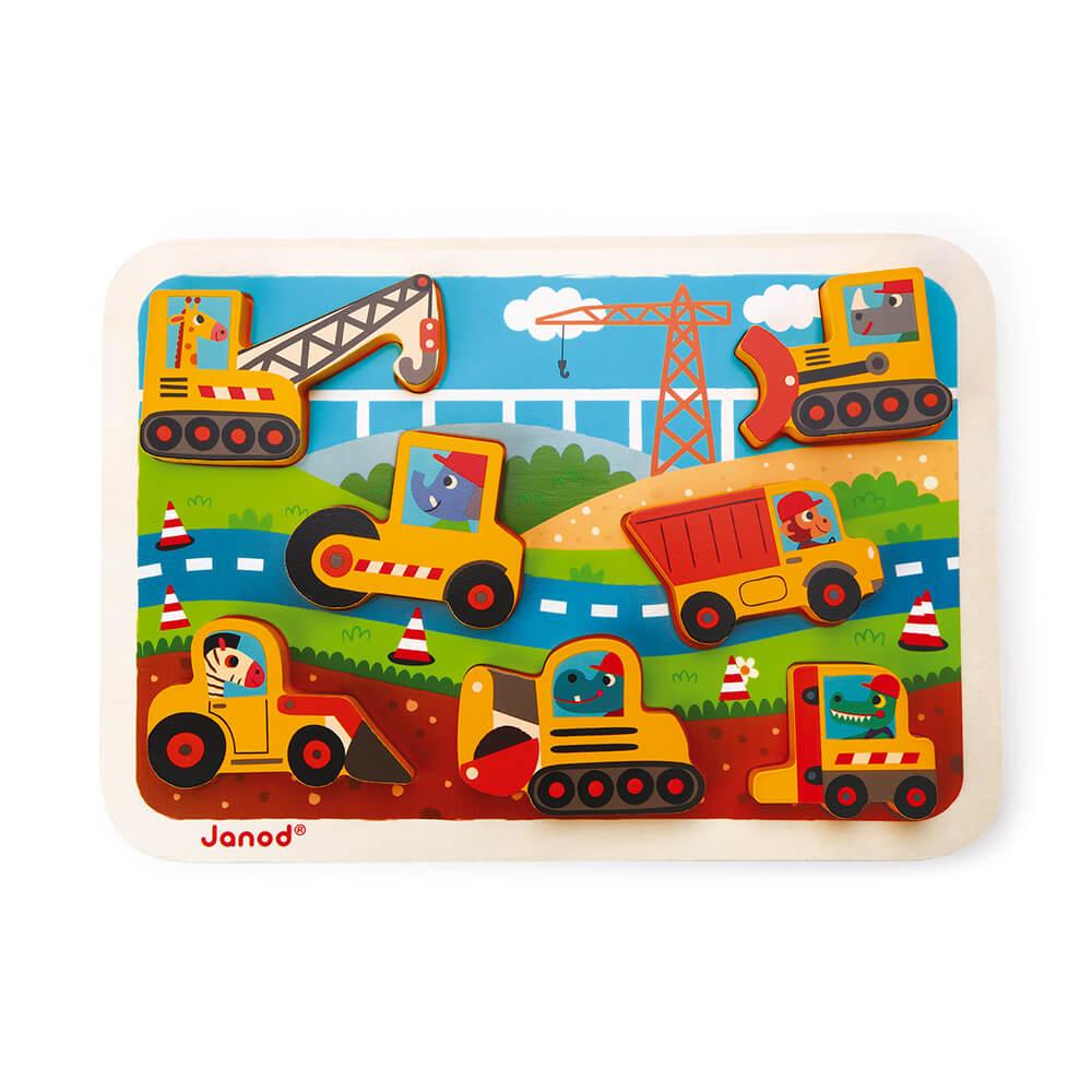 JANOD Бебешки Забавен Пъзел На Строежа от 7 Части
