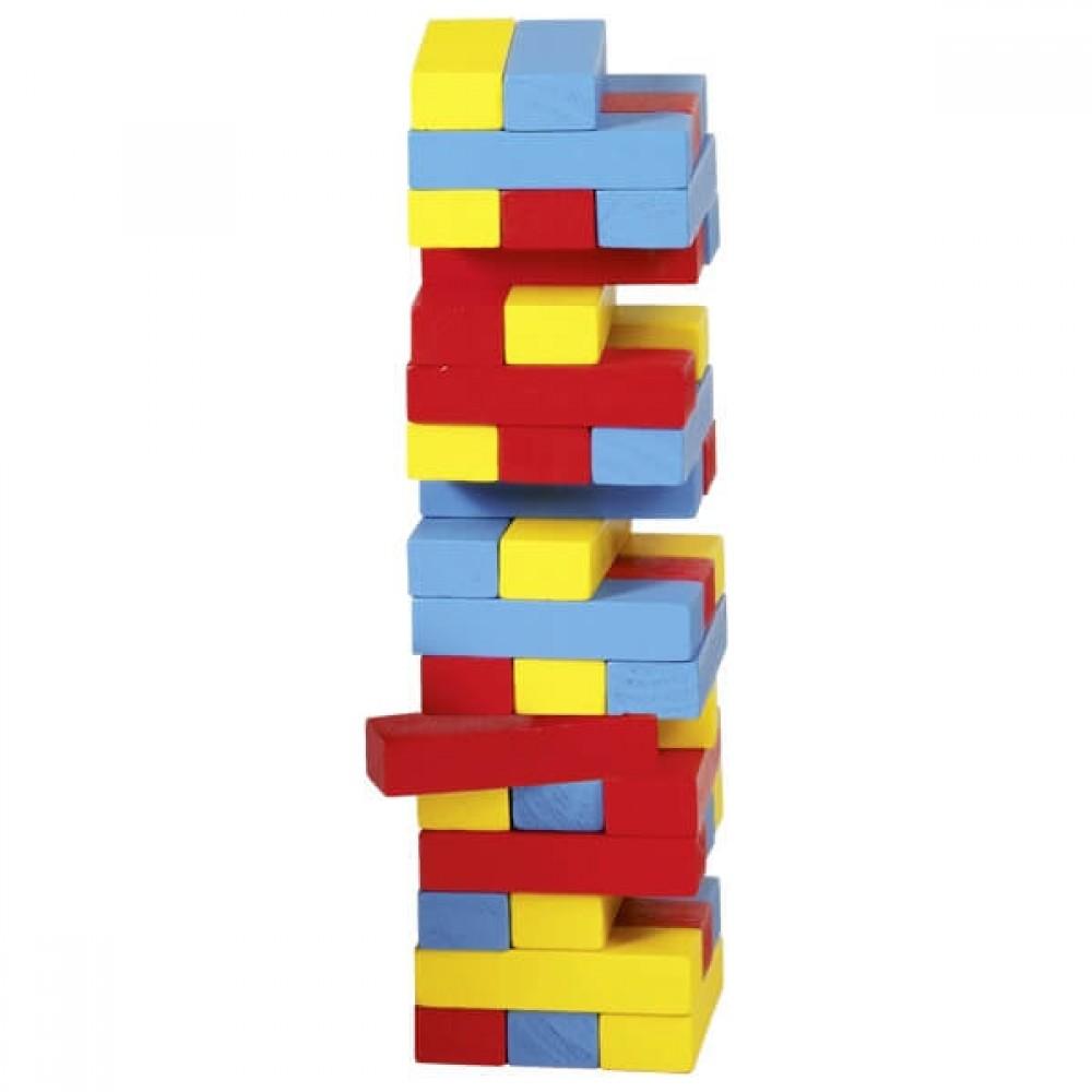 Дървена Цветна Кула – Игра за Баланс