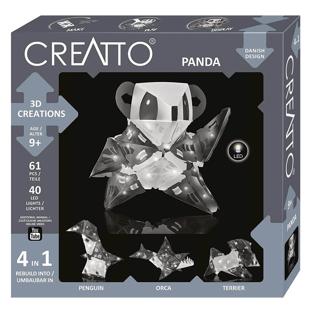 Триизмерни LED Фигури – Панда 4в1