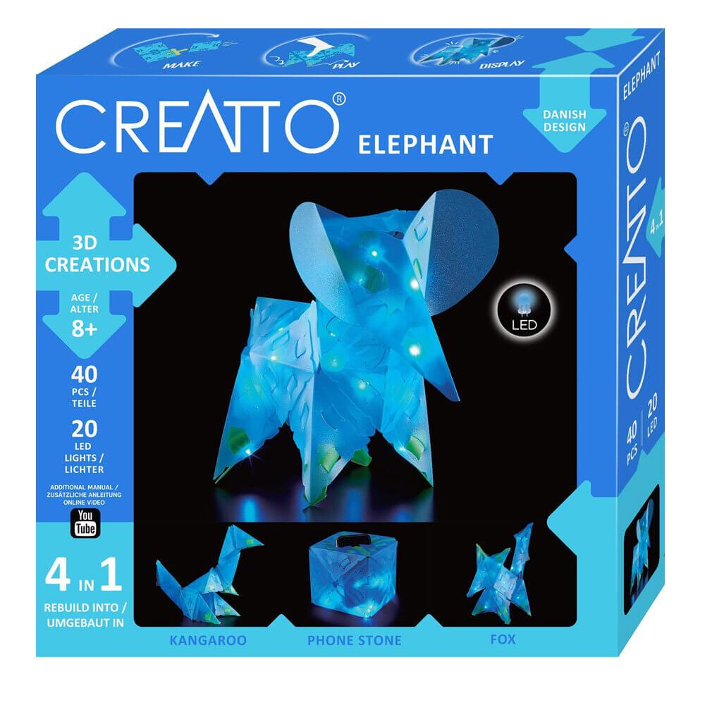 Триизмерни LED Фигури – Слон 4в1