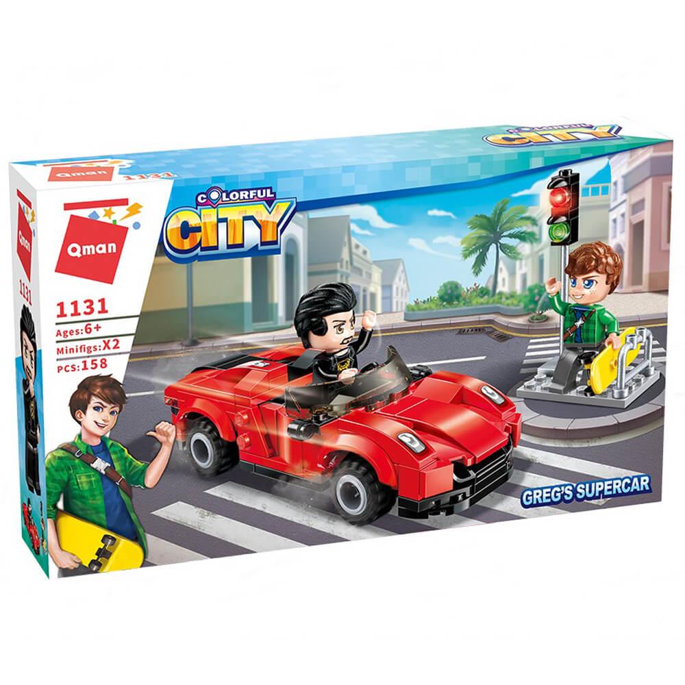 Червен Автомобил – Конструктор Qman 158 части