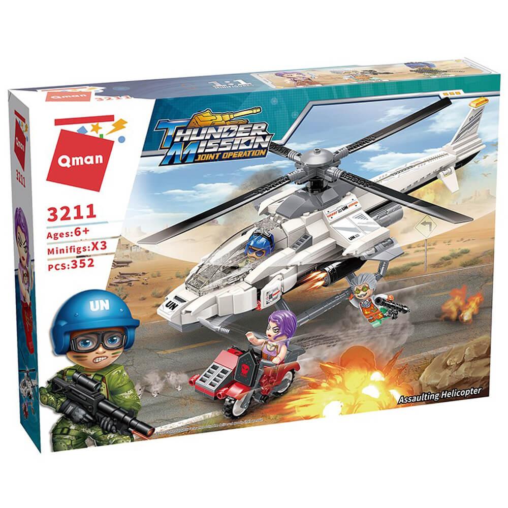 Нападателен Хеликоптер – Конструктор Qman 352 части