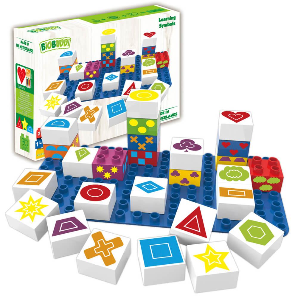Кубчета с Геометрични Фигури – Конструктор Био Бъди 27 части