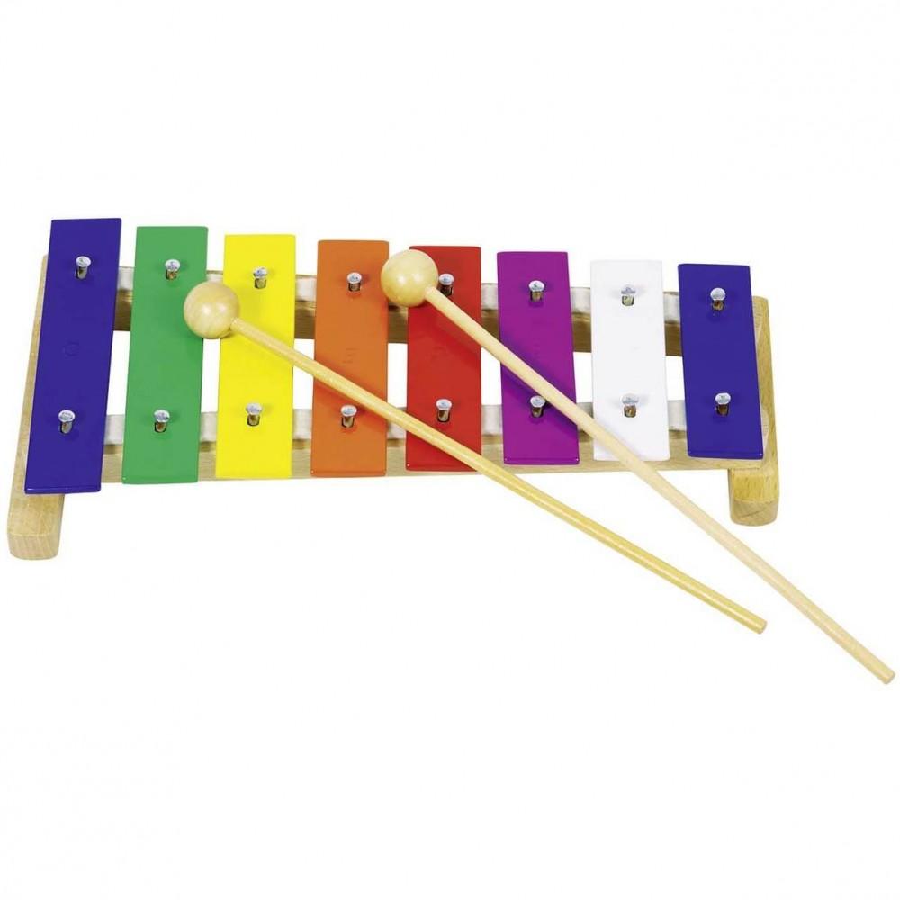 Цветен Дървен Ксилофон 8 Тона GOKI