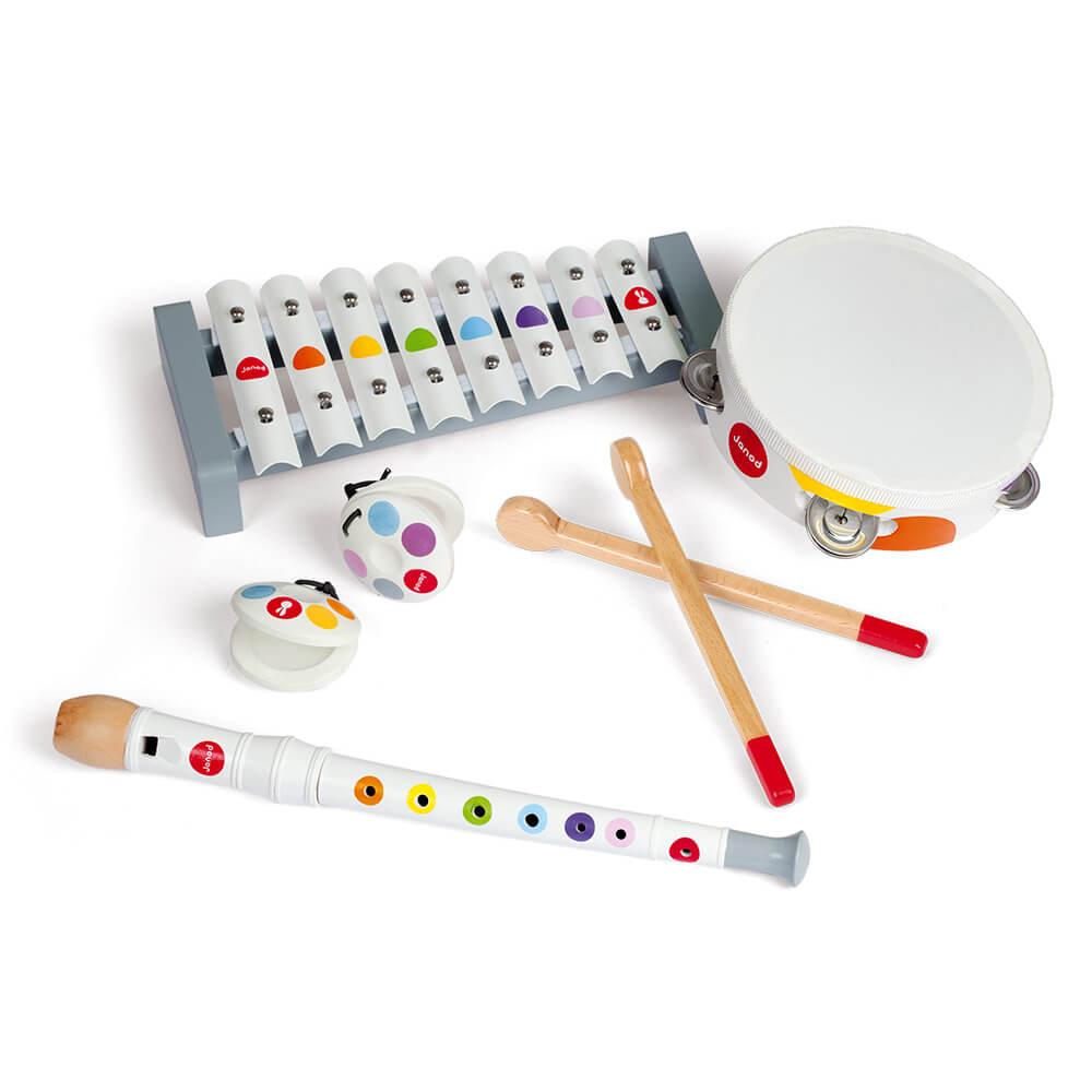 Цветен Комплект от Музикални Инструменти JANOD