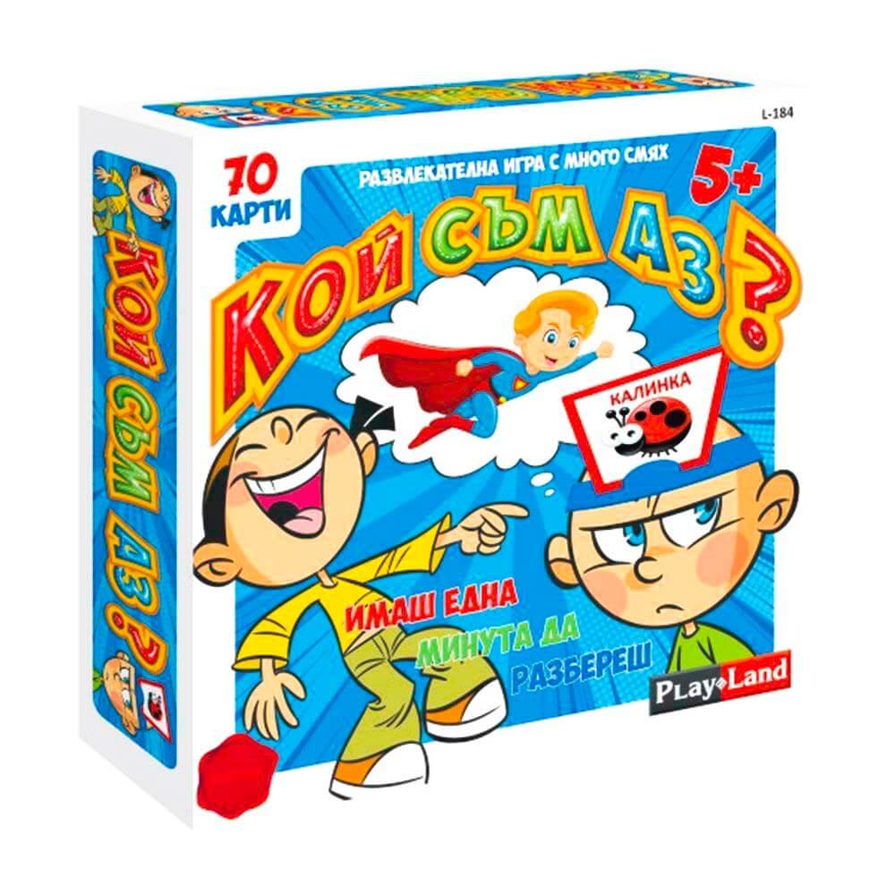 Познай Кой съм Аз - Бордова Игра за Деца (70 карти)